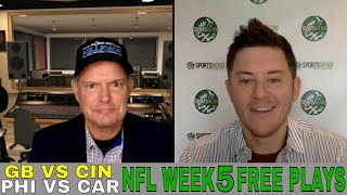 NFL Week 5 Picks and Predictions | Eagles vs Panthers & Packers vs Bengals NFL Free Plays