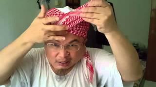 Cara pertama pakai serban 3 hasta Jemaah Al Qudrah