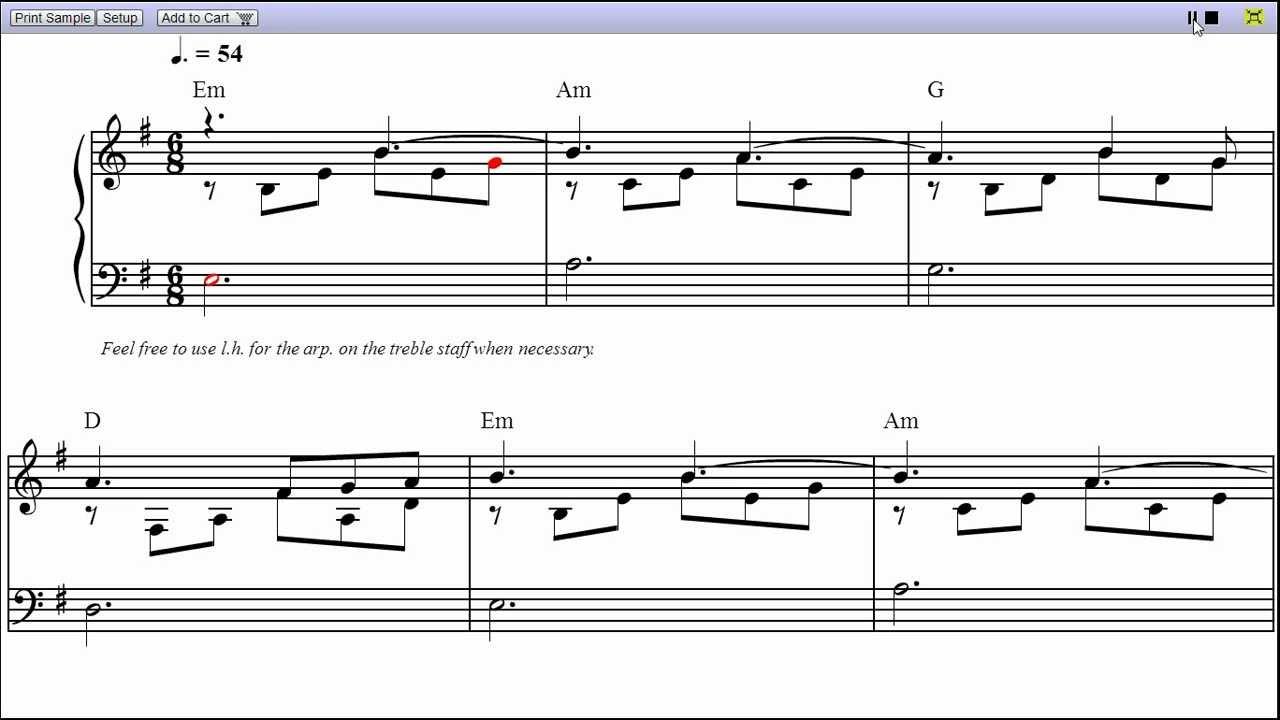 Bound to you piano sheet musicteaser youtube bound to you piano sheet musicteaser hexwebz Images