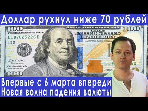 Доллар рухнул ниже 70 и это только начало прогноз курса доллара евро рубля валюты на июнь 2020