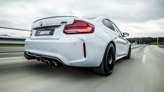 Akrapovic prototype linkpipe for the BMW M2 Competition