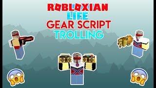 ROBLOX ROBLOXIAN LIFE EXPLOIT TROLLING:Trolling Kids With Gears(Script In The Description