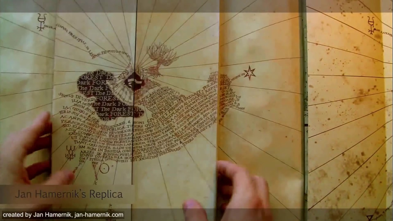. the best homemade marauder's map  youtube