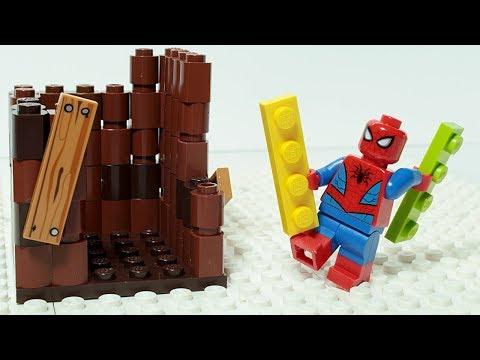 Lego Spiderman Brick Building Treehouse Superhero Animation
