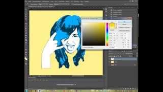 Как рисовать Поп-арт в Фотошопе CS6, как сделать поп-арт портрет