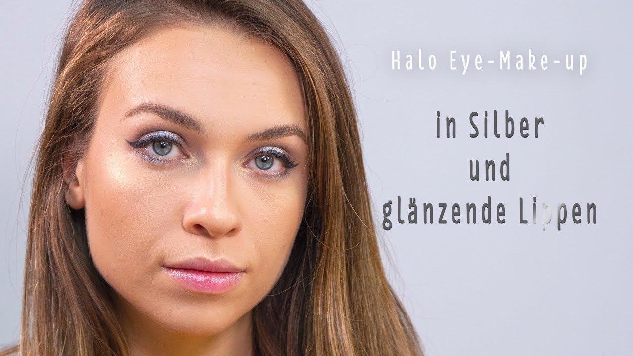 Abend Make Up Halo Eyes In Silber Und Dezent Getonte Lippen Youtube