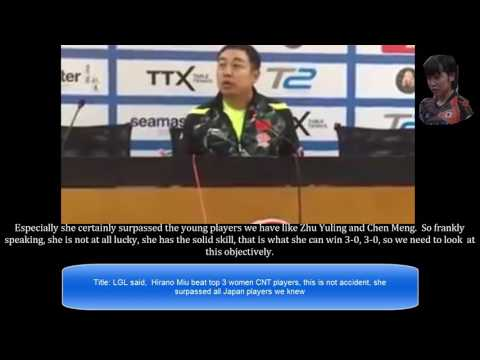 [TT China] (English translated) Coach LGL Liu talks Hirano Miu win Asian