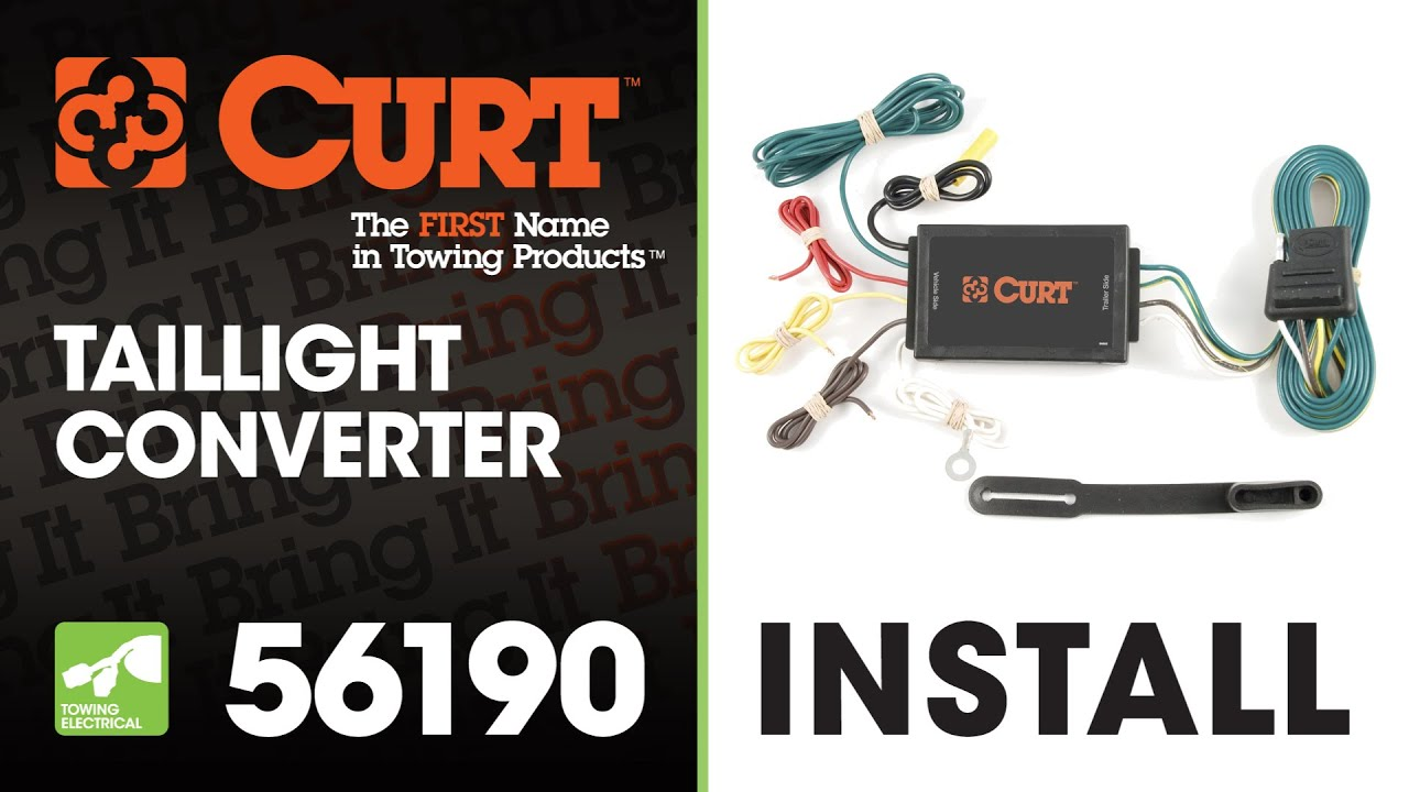 maxresdefault trailer wiring install curt 56190 taillight converter youtube trailer wiring converter at eliteediting.co