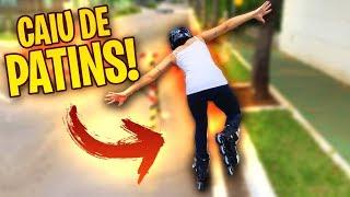 ANDAMOS DE PATINS E MINHA NAMORADA CAIU! thumbnail