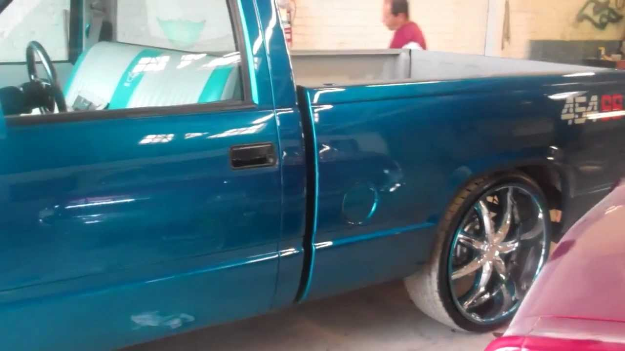 tbkustomz candy teal truck youtube
