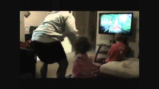 Dad Falcon Punches Kid in Kinect Game!