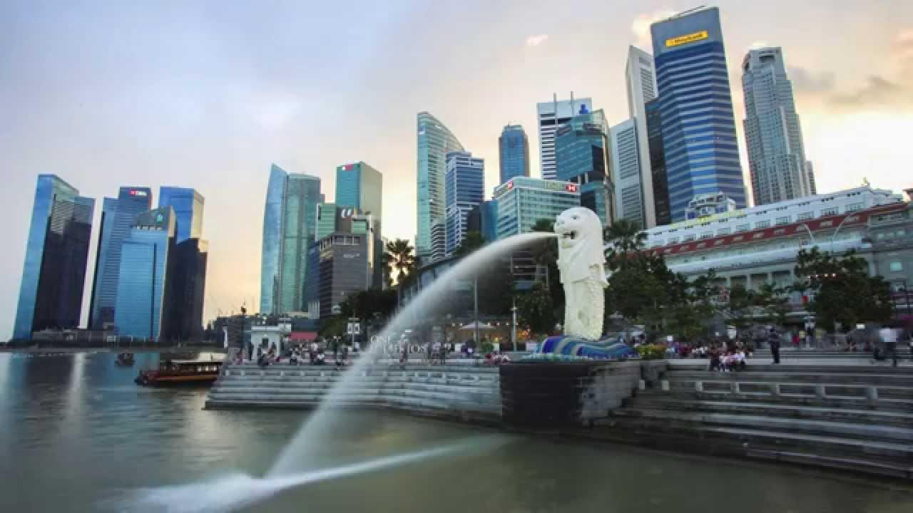 12 dec 2014 merlion singapore time lapse youtube. Black Bedroom Furniture Sets. Home Design Ideas