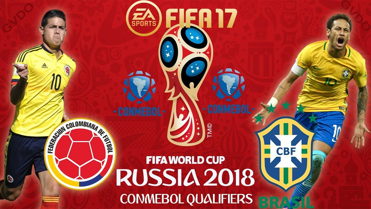 FIFA 17 | Colombia vs Brazil | FIFA World Cup CONMEBOL Qualifiers 2018 | PS4 Full Gameplay - YouTube