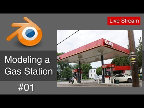 Modeling a Gas Station with Blender #01