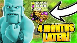 WHAT HAPPENS WHEN YOU DON'T LOG IN FOR 4 MONTHS! - Clash Of Clans