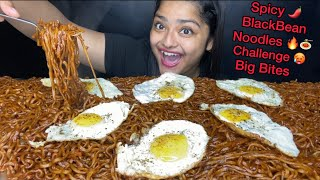 10 PACKET SPICY BLACK BEAN NOODLES CHALLENGE SPICY SAMYANG NOODLES EATING CHALLENGEEATING SHOW