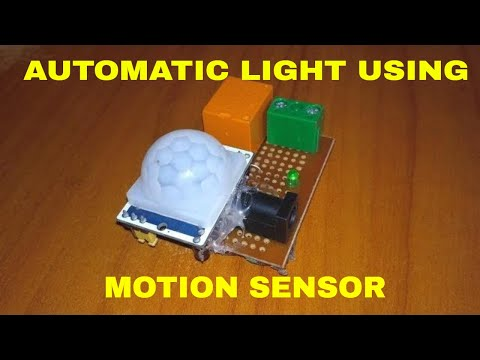 Motion Sensing Light Using Pir Sensor Youtube
