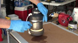 Gasoline Vapor Carburetor Component Assembly Demonstration 8-16-2011