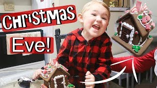 HER FIRST GINGERBREAD HOUSE!