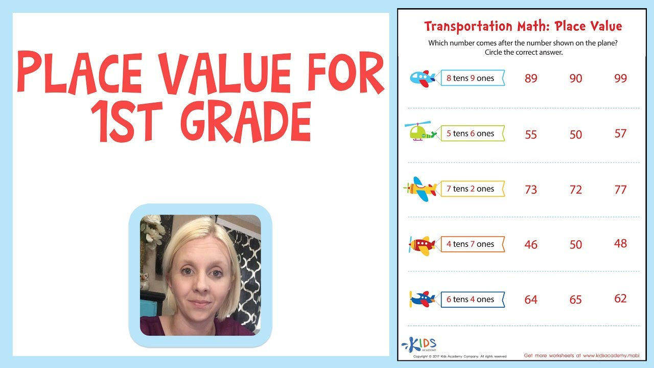 Place Value for 1st Grade - Ones and Tens - YouTube [ 720 x 1280 Pixel ]