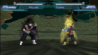 Black Goku Vs. Trunks (Shin Budokai 2) RECREACIÓN DE BATALLA