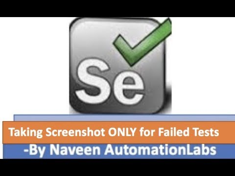 Taking ScreenShot ONLY for Failed Tests in Selenium using TestNG Listener
