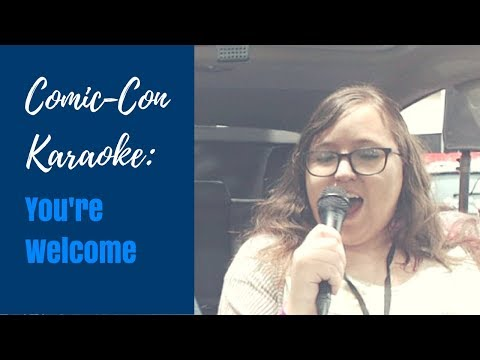 YOU'RE WELCOME FROM MOANA - CAR KARAOKE COVER
