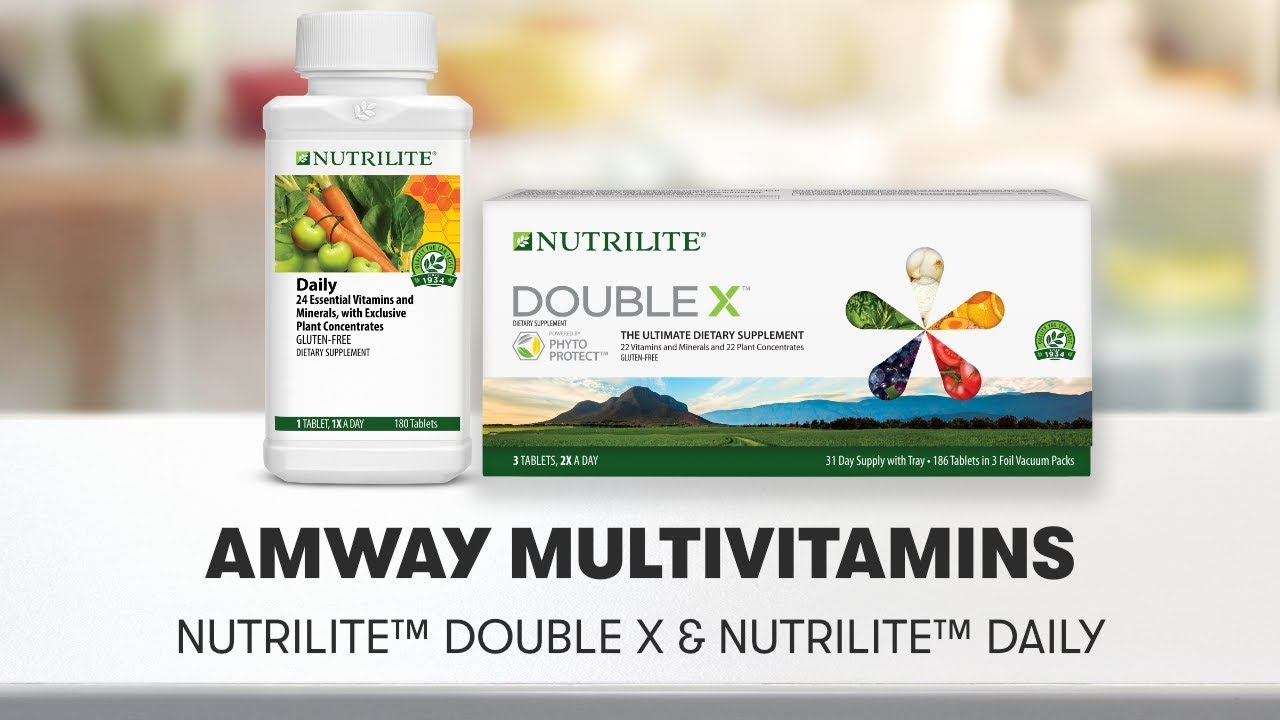 Amway Multivitamins: Nutrilite Double X & Nutrilite Daily | Amway - YouTube