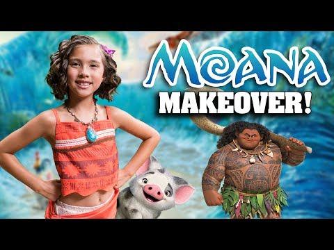 I AM MOANA!!! Jillian's Moana Makeover at the Aulani Painted Sky