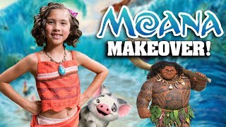 I AM MOANA!!! Jillian's Moana Makeover at the Aulani Painted Sky