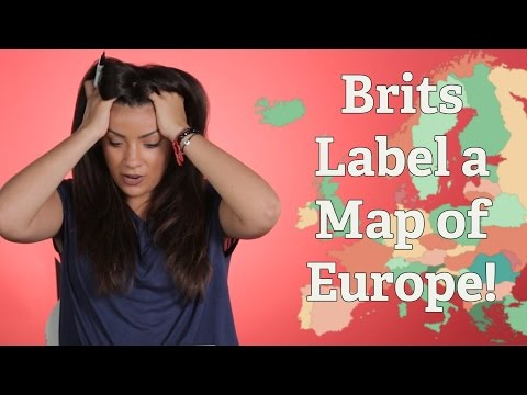 British People Try to Label a Map of Europe