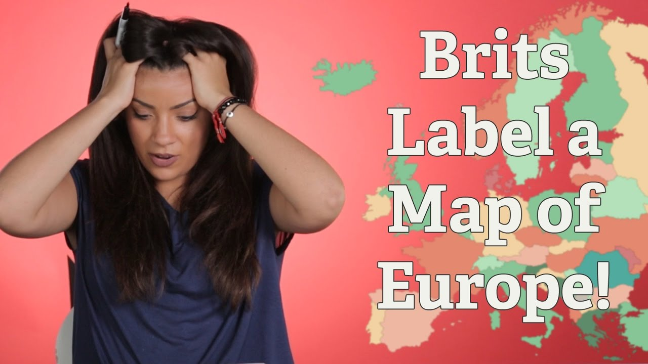 Label A Map Of Europe.British People Try To Label A Map Of Europe Youtube