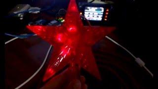 видео Как сделать светящуюся звезду на ёлку?