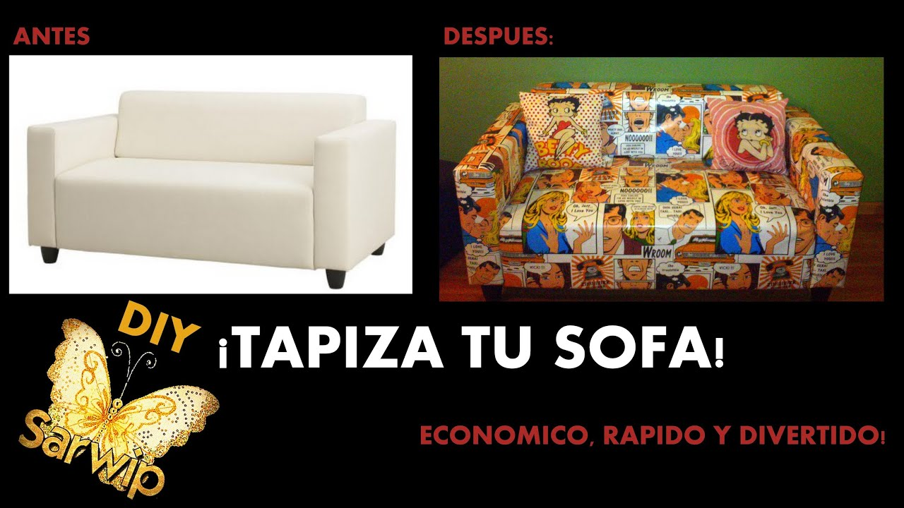 Diy tapizar sofa facil economico y original - Restaurar sillon antiguo ...