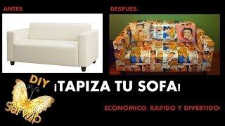 ✫ DIY ✫ TAPIZAR SOFA, FACIL, ECONOMICO Y ORIGINAL || UPHOLSTERED SOFA || Canapé rembourré Thumbnail