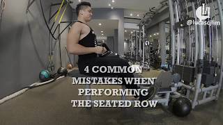 4 Common Mistakes When Performing the Seated Row