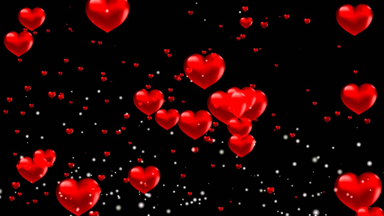 Background footage with red hearts - YouTube