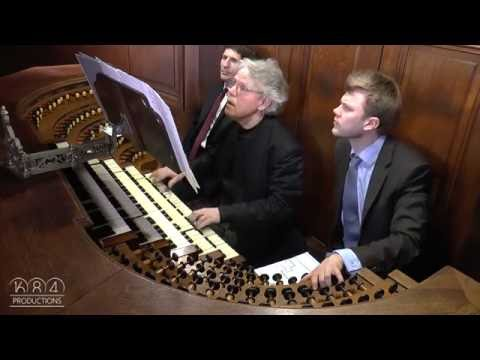Saint-Sulpice organ, Daniel Roth plays Mendelssohn Prelude & Fugue in E minor (April 2016)
