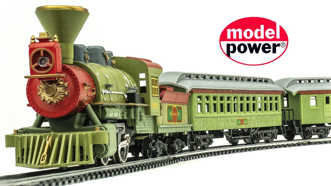 Vintage Model Power HO-Scale Dickens Railroad Company No. 1078 Model Train Set Unboxing & Review