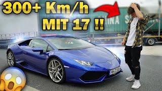 17 Jähriger rast mit 300 km/h im Lamborghini an Polizei vorbei !!