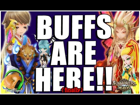 SUMMONERS WAR : BUFFS ARE HERE!!!!! (Monster Balancing Patch 5/25)