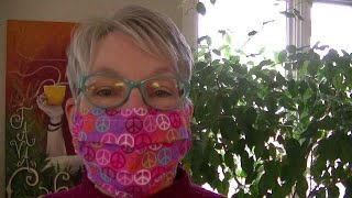DIY REUSABLE FACE MASK with FILTER POCKET-4 Style Options-1 Easy SEW Pattern-Won't Fog Your Glasses!