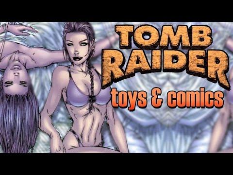 Lara Croft Tomb Raider toys and comic