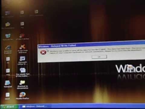 Windows Delayed Write Failed error english