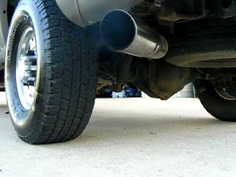 Chevy Duramax with Dual cat back 5' exhaust - YouTube