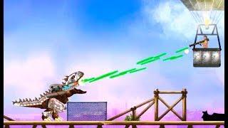 Tirano Dinosaurios comen los seres humanos y de la policía 1| Tirano Dinosaurios Juego |de dibujos animados de CA