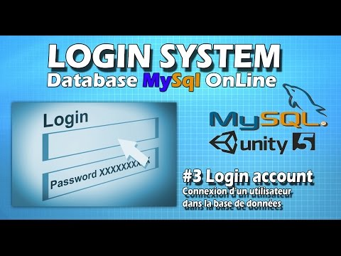 #3 Login Account (login utilisateur dans la bdd MySql)