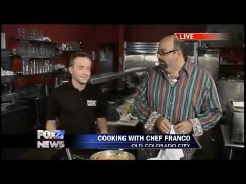 Chef Franco and John Martin talk sauce at Paravicini's