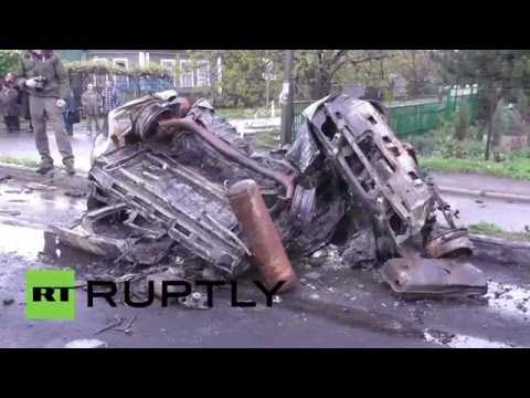 Ukraine: OSCE investigate deadly shelling south-west of Donetsk *GRAPHIC*