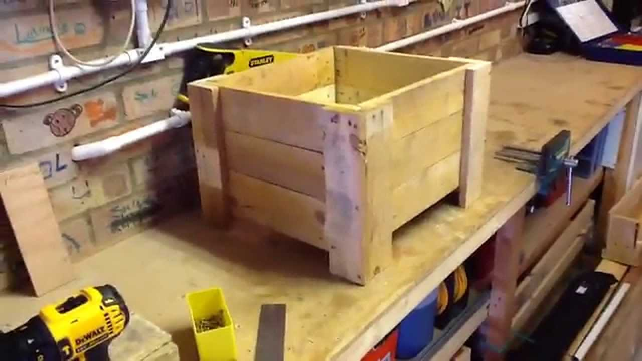 Pallet Planter Box (Limited Tools Project) - YouTube on wooden pallet shadow box, diy planters box, diy pallet box, pallet garden box, cardboard planter box, old pallet planter box, wooden pyramid planter diy, wooden car planter box, wooden garden planter box, wooden pallet storage box, plywood planter box, timber planter box, crate planter box, glass planter box, wooden pallet flower planter, wooden window planter box,